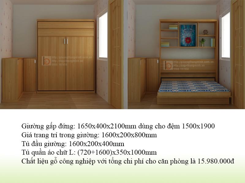 3. Thiết kế phòng ngủ nhỏ dưới 5m2
