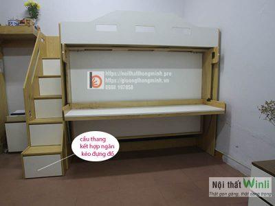 giường tầng thông minh 7 trong 1- cầu thang