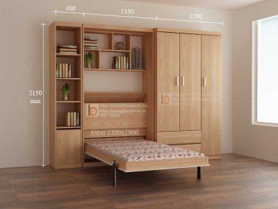 Mẫu giường tủ thông minh cho phòng ngủ