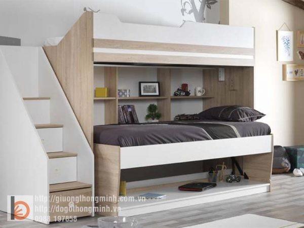 giường tầng thông minh cho hai bé