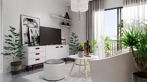 Phối màu nội thất phòng khách