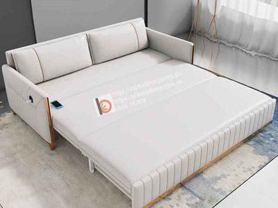 sofa giường thông minh bọc da