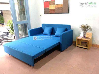 sofa-giường-bọc-nỉ-xanh1
