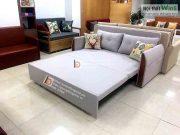 sofa giường dọc tay gỗ bọc nỉ nan sắtt