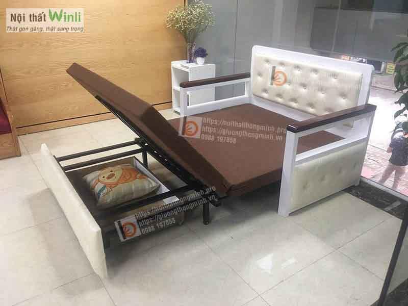 Mẫu sofa giường thông minh nan sắt tân cổ điển