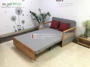 sofa giường tay cong nhỏ