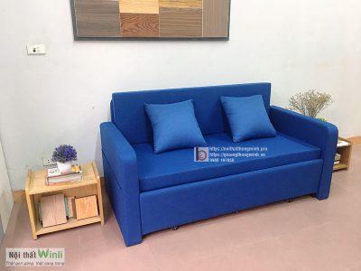 sofa giường bọc nỉ màu xannnnh