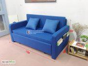 sofa giường bọc nỉ xanh