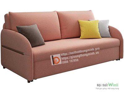sofa giường thông minh nan sắt-hồng1