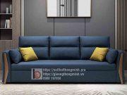 sofa giường thông minh nan sắt tay gỗ tam giác đen5