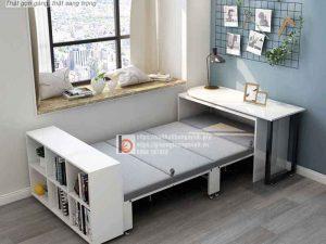 giường xếp thông minh kiêm kệ trang trí1